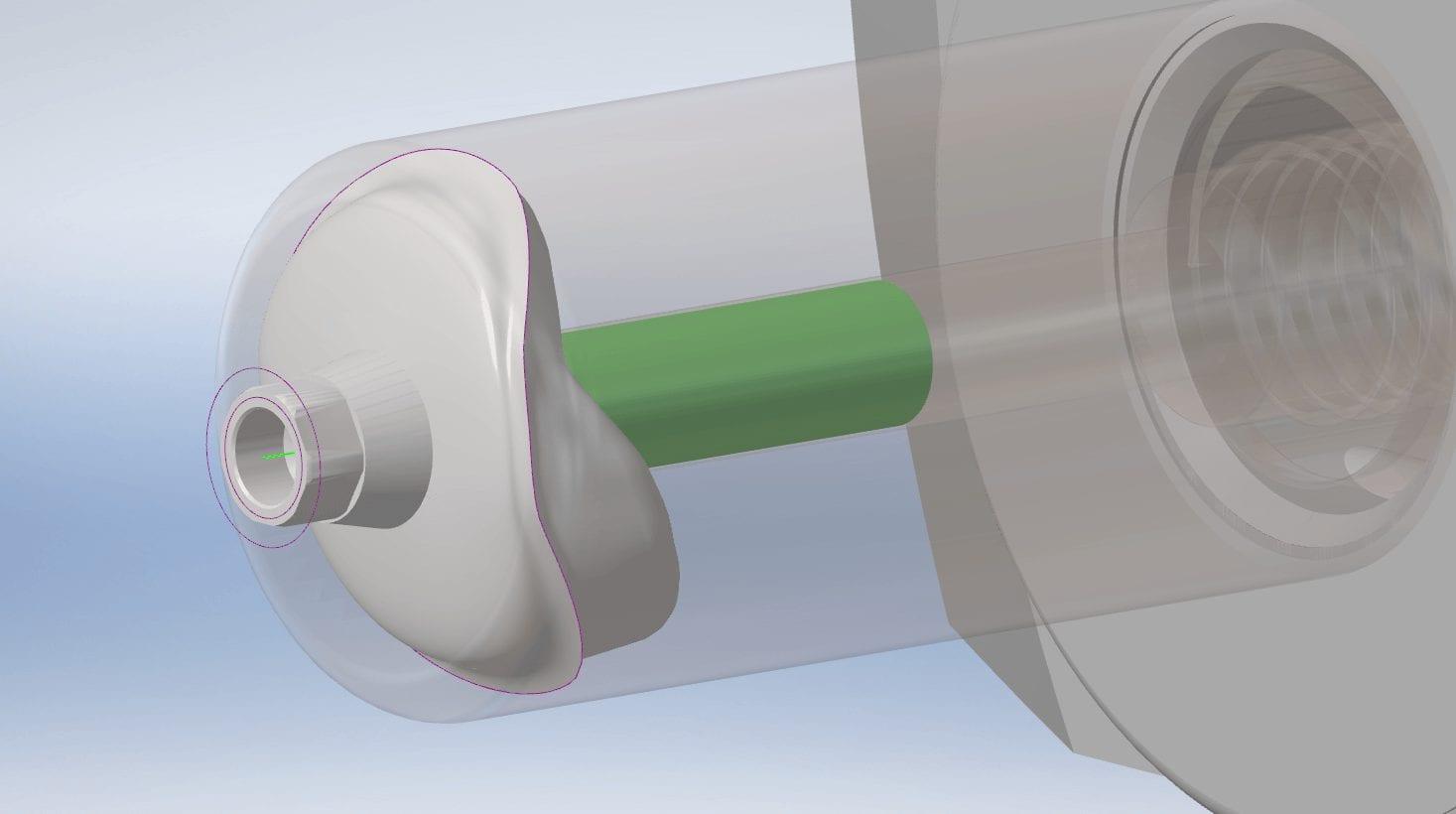 simulation custom abutment milling
